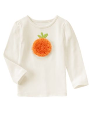 Long sleeve pumpkin tee