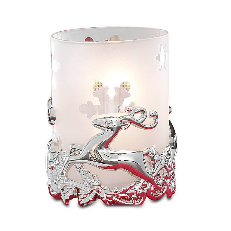 Crystal Reindeer Votive by Gorham, Home Decorating Candles by Lenox
