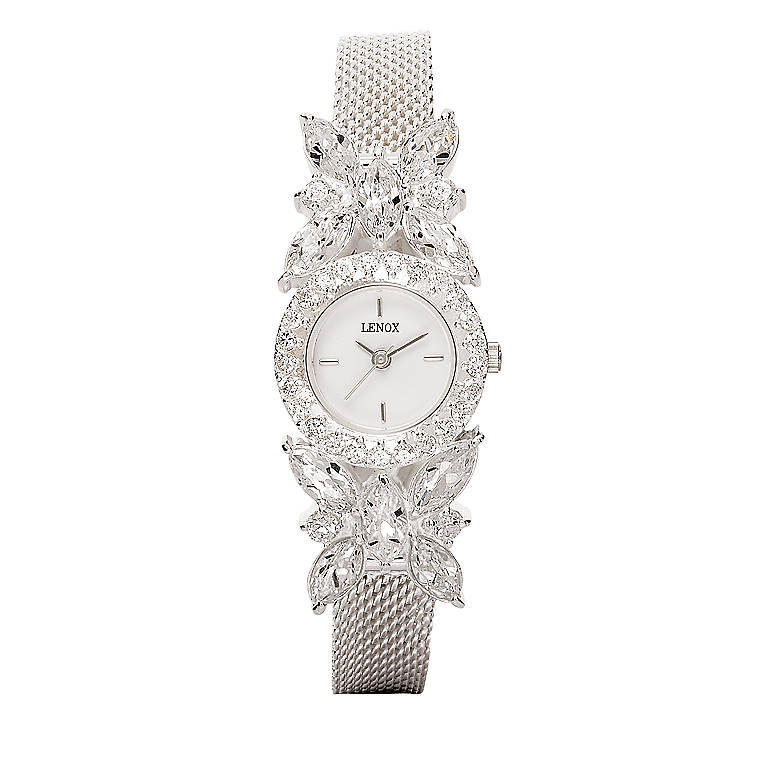 Sterling Silver Crystal Butterfly Watch by Lenox, Women's Watches by Lenox