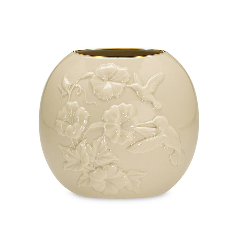Ivory China Lenox Legacy Edition Four Seasons Summer Vase, Home Decorating Vases by Lenox