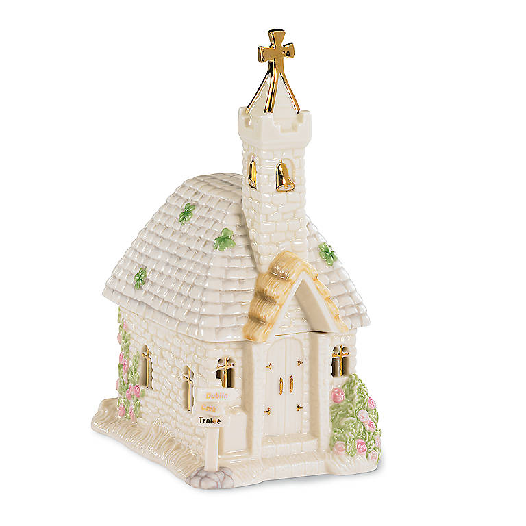 Ivory China Lenox St. Patrick's Blessing Music Box, Home Decorating Music Boxes by Lenox
