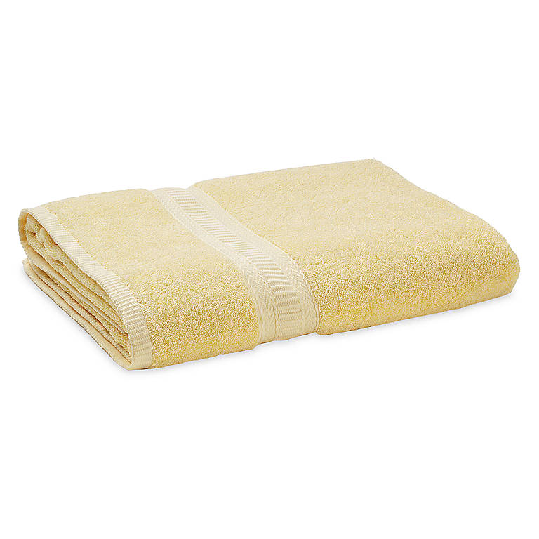Fabric Eternal Bath Sheet - Lemon Ice, Bathroom Towels by Lenox