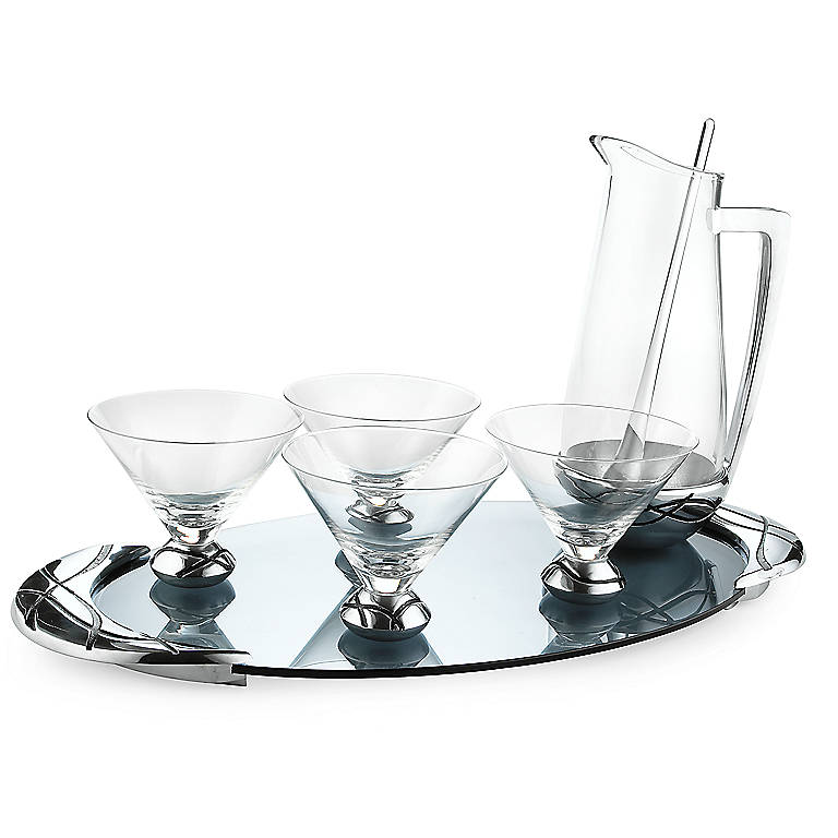 Alternative Metal Lenox Vibe 7-piece Martini Set, Dinnerware Serving Pieces by Lenox