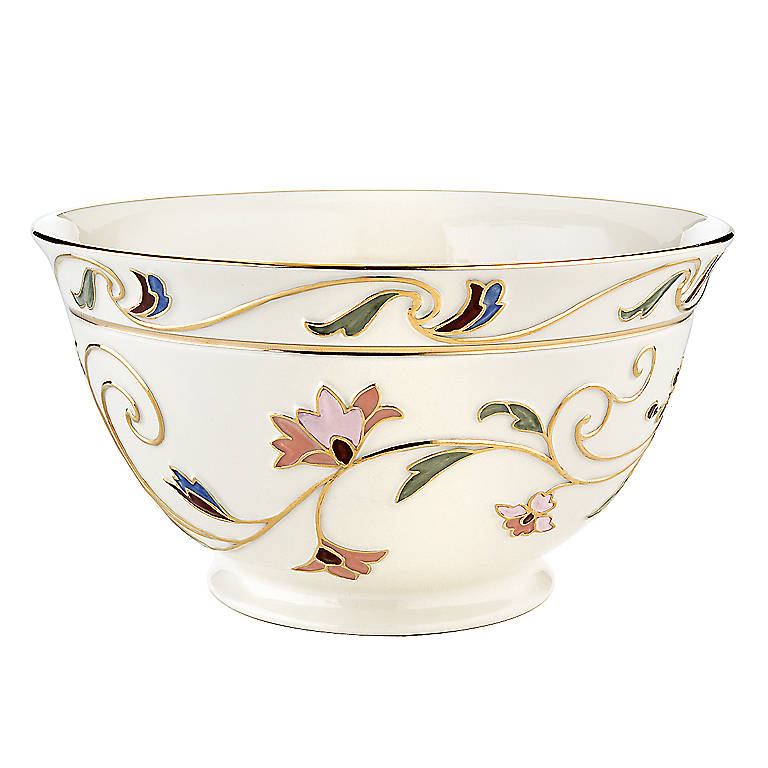 Ivory China Lenox Gilded Garden Medium Bowl, Home Decorating Bowls by Lenox