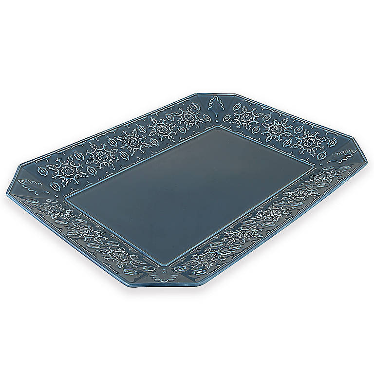 Earthenware Mediterra Carved Rectangular Platter by Lenox, Dinnerware Serving Pieces by Lenox