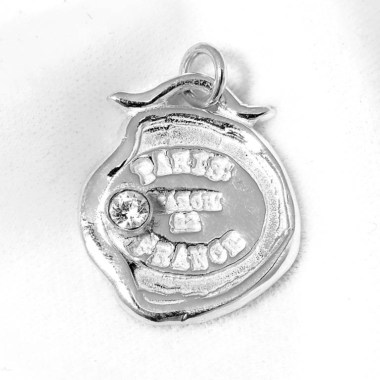 Sterling Silver Tickle Passport Bracelet Charm - Paris, Costume Jewelry by Lenox