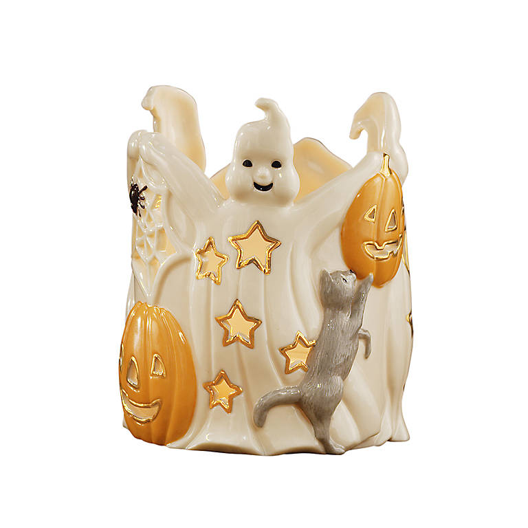Ivory China Lenox Halloween Votive - Dancing Ghosts, Home Decorating Candles by Lenox