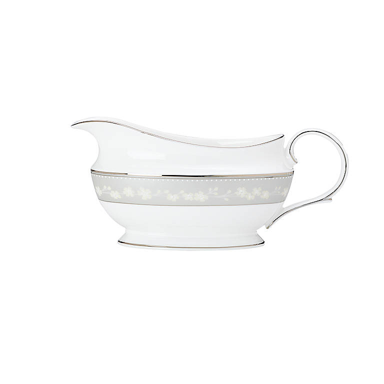 Bone China Bellina Sauce Boat by Lenox, Dinnerware Serving Pieces by Lenox