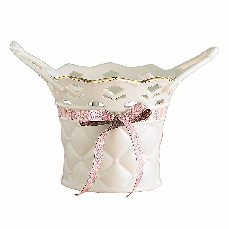 Porcelain Tied with Love Bethany Basket by Lenox, Home Decorating Baskets by Lenox