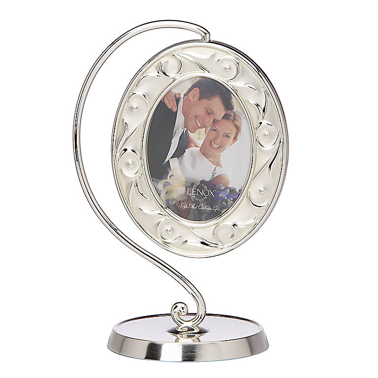 Silverplated Opal Innocence Hanging Picture Frame by Lenox, Home Decorating Picture Frames by Lenox
