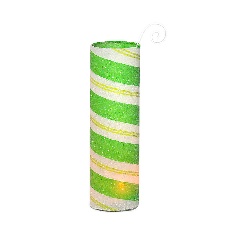 Peppermint Hurricane Votive Holder - Green, Home Decorating Candles by Lenox