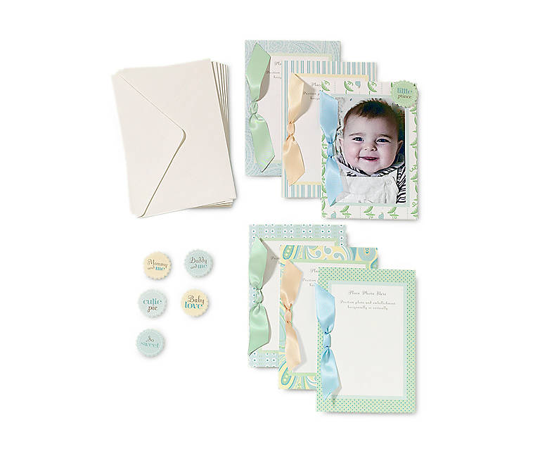 Paper Department 56 Baby Boy Photocards, Set of 6, Stationery by Lenox