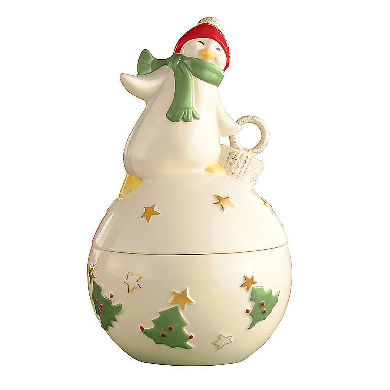 Porcelain Merry Musicals Penguin Music Box by Lenox, Home Decorating Music Boxes by Lenox
