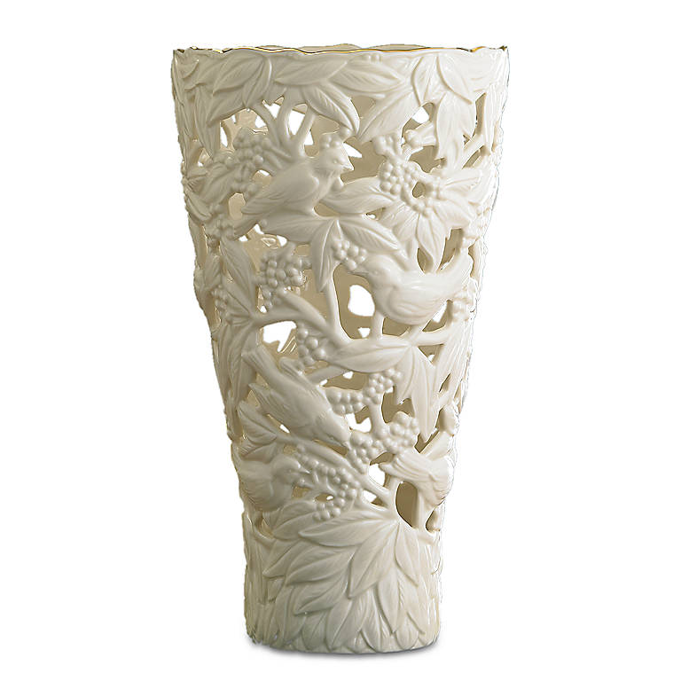 Ivory China Filigree Forest Large Vase by Lenox, Home Decorating Vases by Lenox