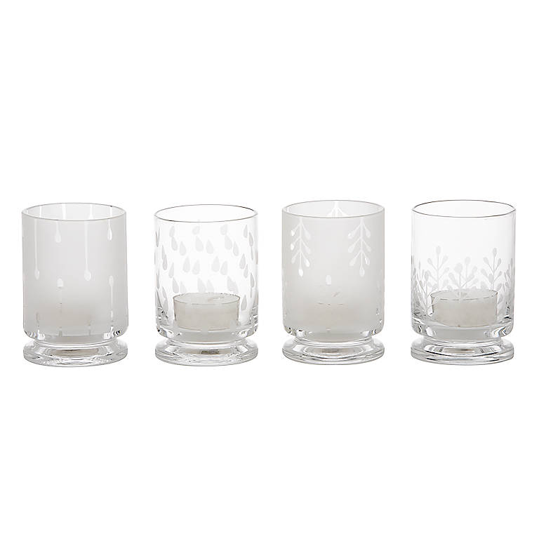 Glass Karin Organix Votives, Set of 4 by Dansk, Home Decorating Candles by Lenox