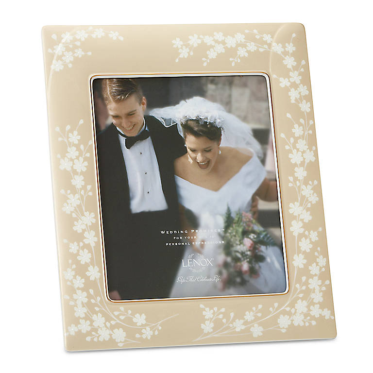 Porcelain Bellina Gold 8x10 Frame by Lenox, Home Decorating Picture Frames by Lenox