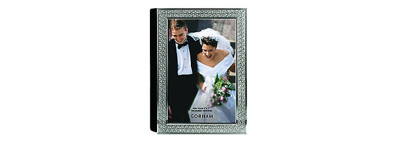 Metal Gorham Razzle Dazzle 4x6 Photo Album, Clear, Home Decorating Picture Frames by Lenox