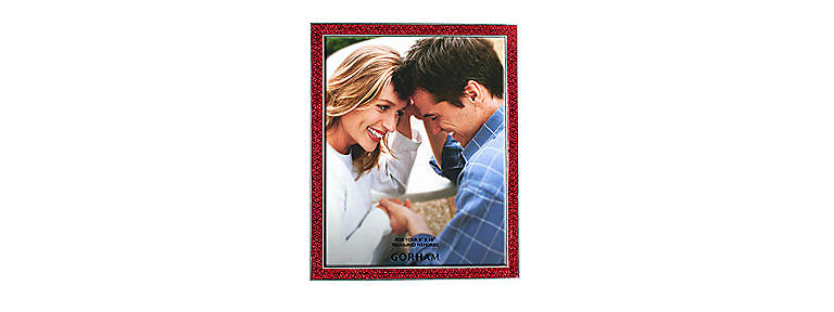 Metal Gorham Razzle Dazzle 8x10 Frame, Red, Home Decorating Picture Frames by Lenox