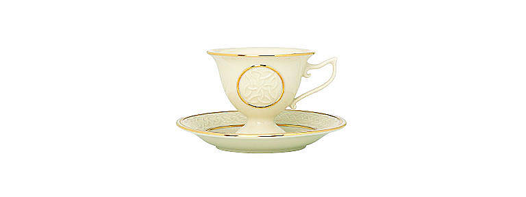 Ivory China Irish Teacup Votive by Lenox, Home Decorating Candles by Lenox