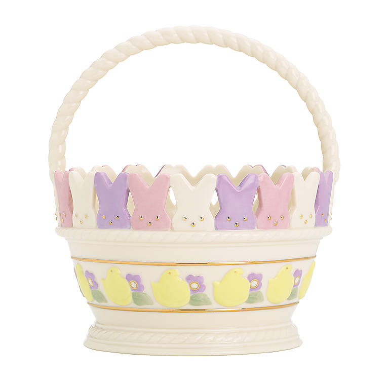 Ivory China PEEPS Easter Basket by Lenox, Home Decorating Baskets by Lenox