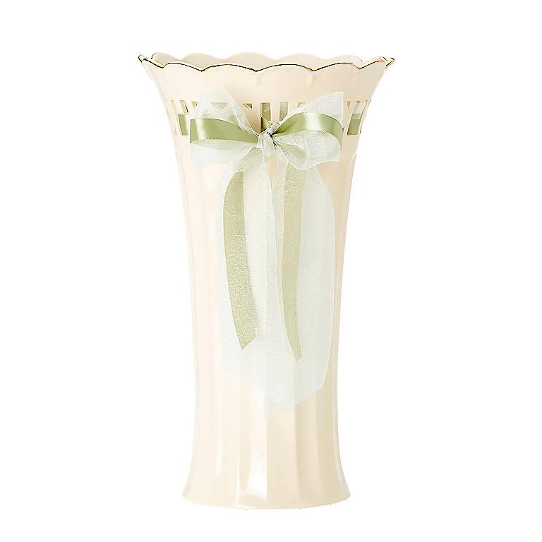 Porcelain Love Notes Beloved Large Vase by Lenox, Home Decorating Vases by Lenox