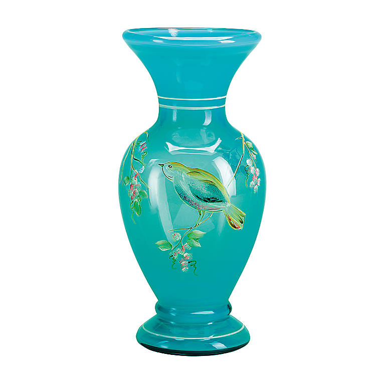 Glass Fenton Blue Lagoon Vase, Home Decorating Vases by Lenox