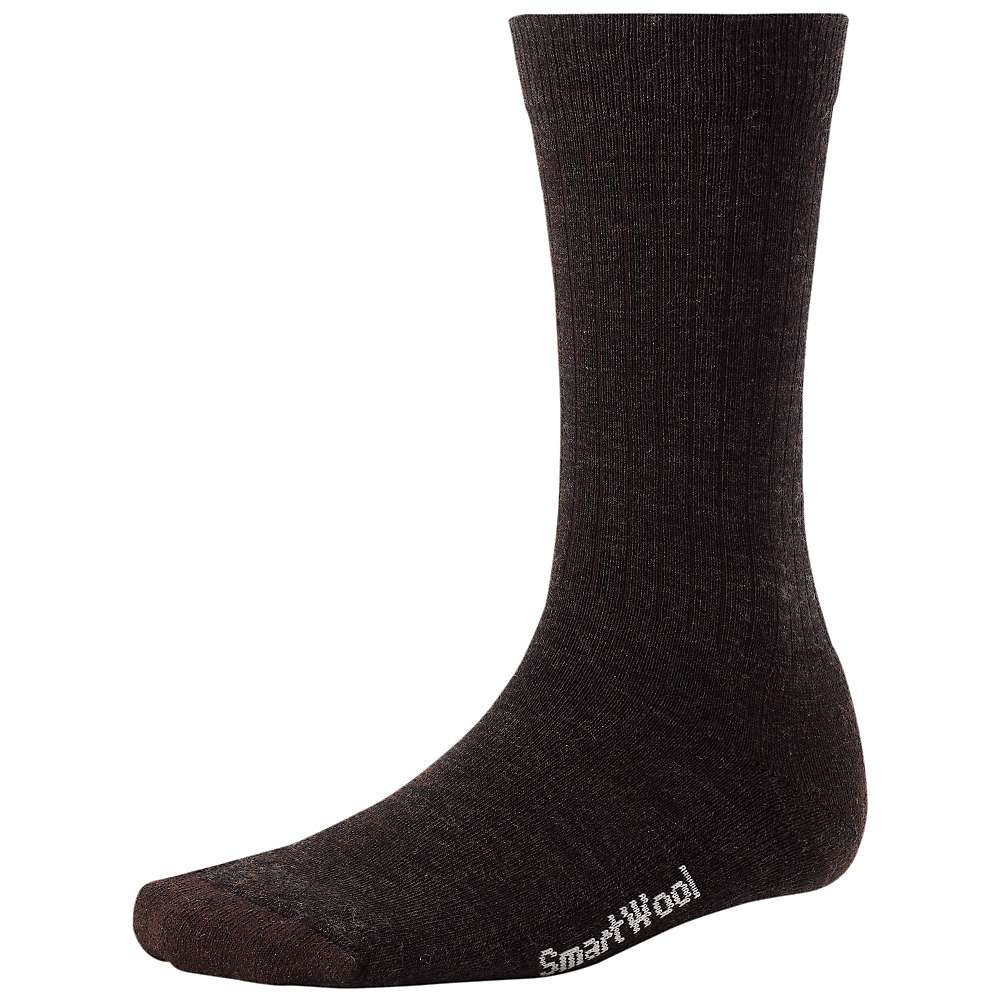 Smartwool Men's Heathered Rib Sock - Large - Chestnut / Black