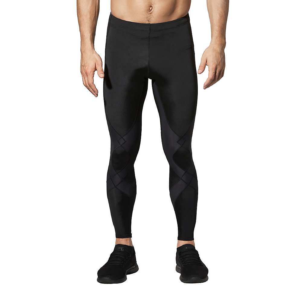 CW-X Mens Stabilyx Joint Support Compression Tights - Small - Black