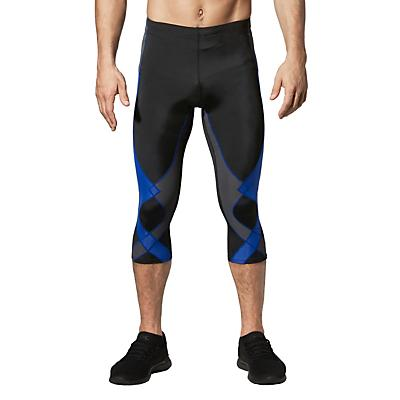 CW-X Mens Stabilyx Joint Support Compression Tights - Black / Grey / Blue