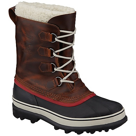 Sorel Men's Caribou Wool Boot Burro Sorel Men's Caribou Wool Boot - Burro - in stock now. FEATURES of the Sorel Men's Caribou Wool Boot Upper: Waterproof full-grain leather upper. Seam sealed waterproof construction Insulation: Removable 9 mm wool inner boot with Sherpa Pile snow cuff Midsole: 2.5 mm bonded felt frost plug Outsole: Handcrafted waterproof vulcanized rubber shell with Sorel aero-trac non loading outsole