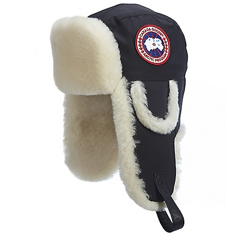 Image of Canada Goose Shearling Co-Pilot Hat Black
