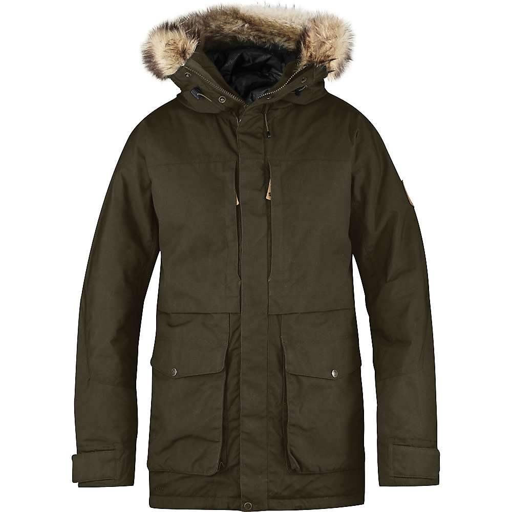 Fjallraven Men's Barents Parka - Large - Dark Olive