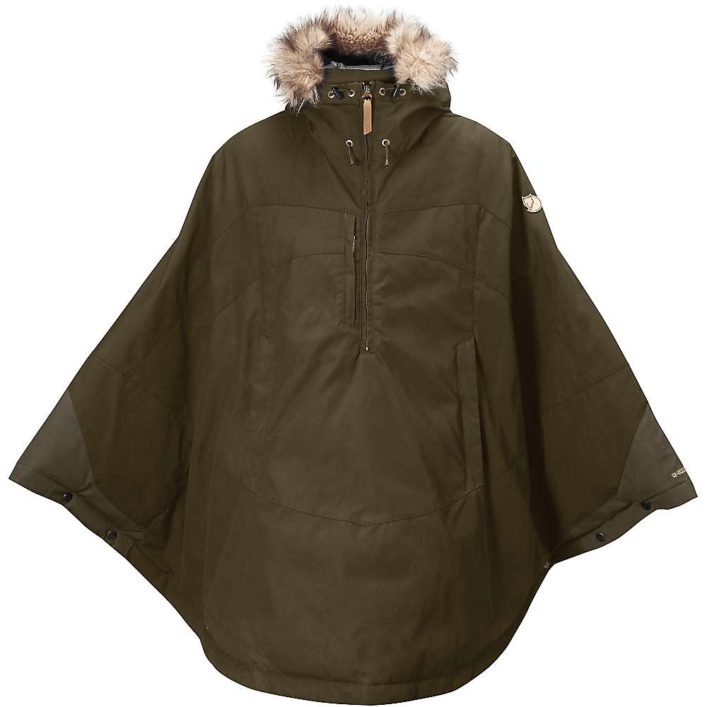 Fjallraven Women's Luhkka Cape - Medium - Dark Olive