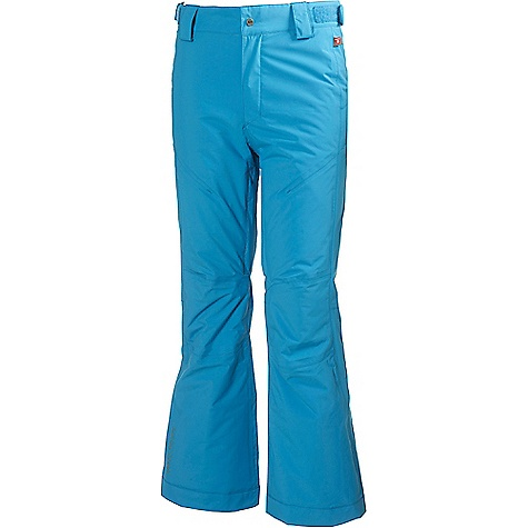 Helly Hansen Juniors' Legend Pant Light Ocean Helly Hansen Juniors' Legend Pant - Light Ocean - in stock now. FEATURES of the Helly Hansen Juniors' Legend Pant Helly Tech Performance Reservoir hem Mechanical venting zip YKK quality zippers Multiple exterior pockets Belt loops Adjustable waist Boot gaiters Articulated knees Fully insulated PrimaLoft Black Insulation Durable Water Repellency treatment (DWR) Fully seam sealed 2 ply fabric construction Waterproof, windproof and breathable