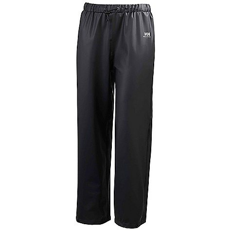 Helly Hansen Juniors' Voss Pant Black Helly Hansen Juniors' Voss Pant - Black - in stock now. FEATURES of the Helly Hansen Juniors' Voss Pant Helox+ technology Elastic adjustable waist Adjustable snap bottom hem Quick dry inside Welded seams PU fabric construction Fully wind- and waterproof