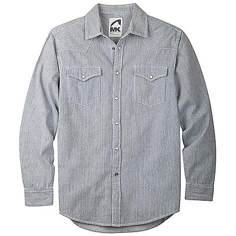Image of Mountain Khakis Men's Original Mountain Denim Shirt Railroad