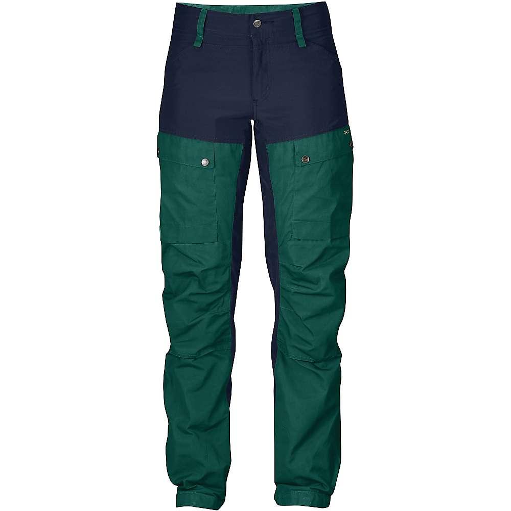 Fjallraven Women's Keb Trousers - 38 Short - Glacier Green / Dark Navy