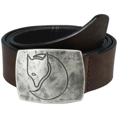 Fjallraven Murena Silver Belt - Small - Leather Brown