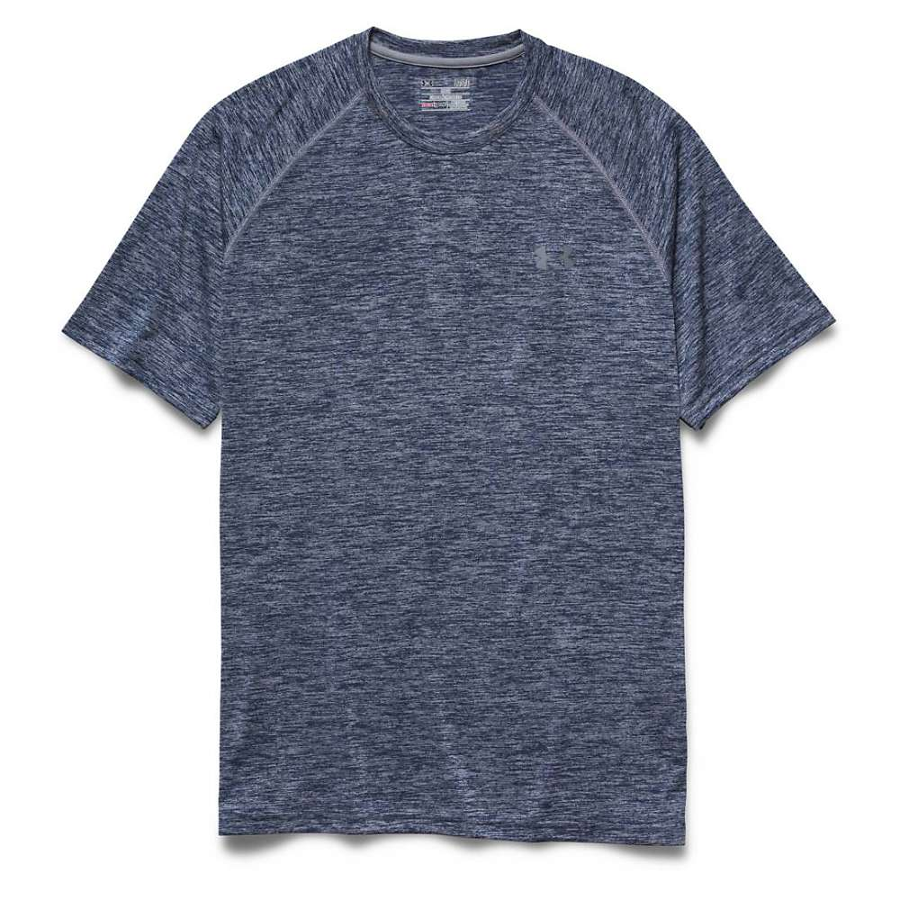 Under Armour Men's UA Tech SS Tee - Large - Academy / Steel / Steel