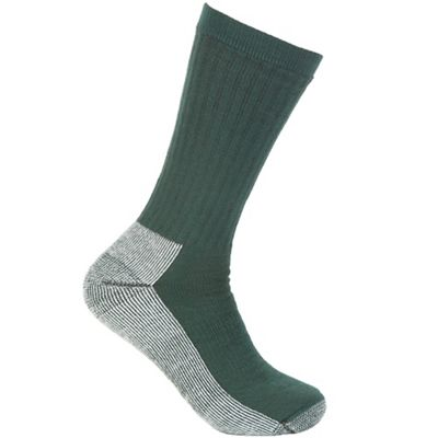 Smartwool Striped Hike Medium Crew Sock - Large - Alpine Green