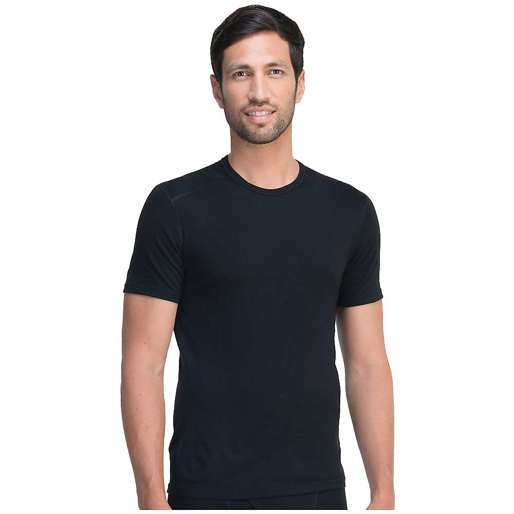 Icebreaker Men's Oasis SS Crewe - Large - Black