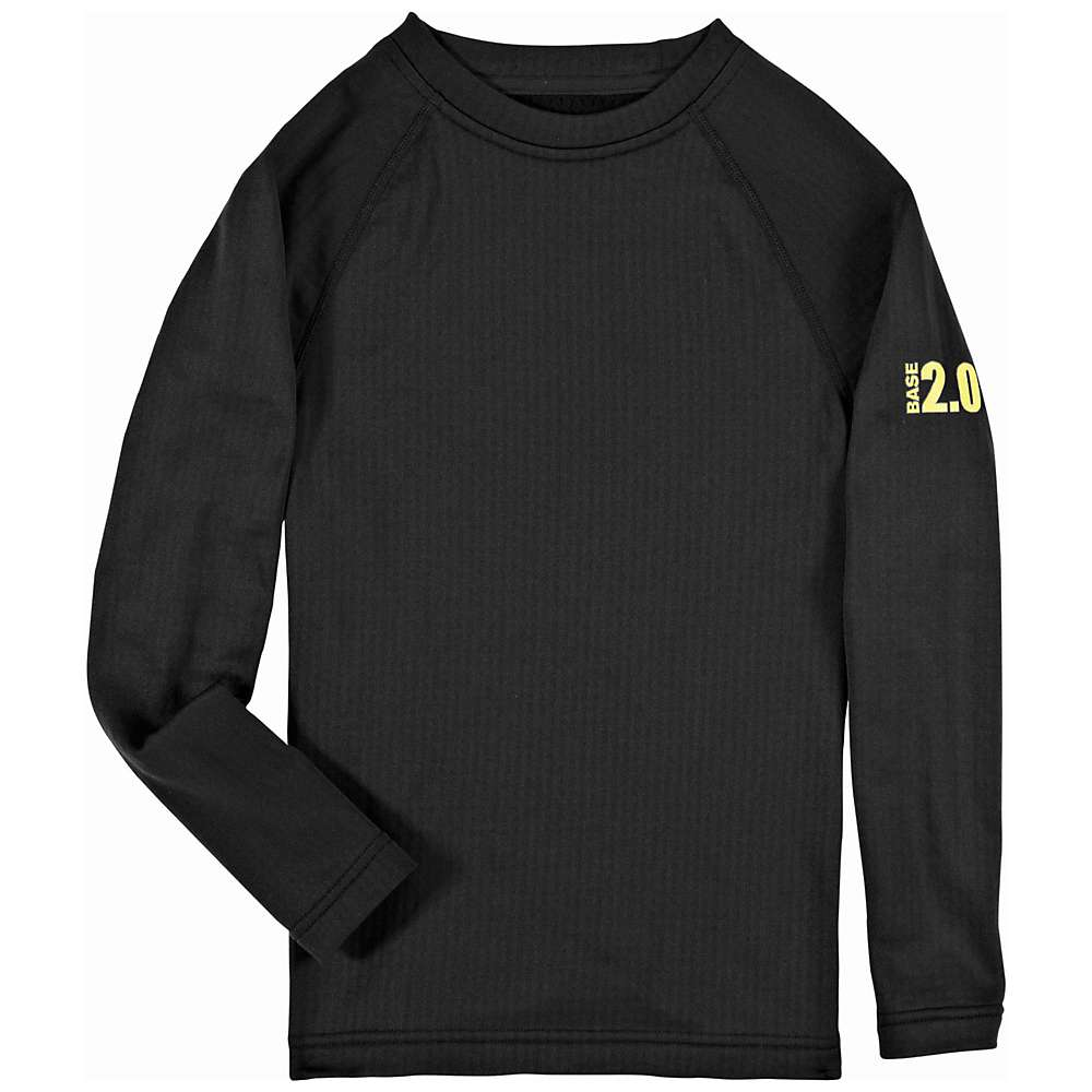 Under Armour Boys' UA Base 2.0 Crew - Medium - Black / School Bus