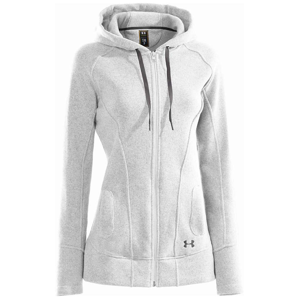 Under Armour Women's Wintersweet FZ Hoody - XL - White / Charcoal
