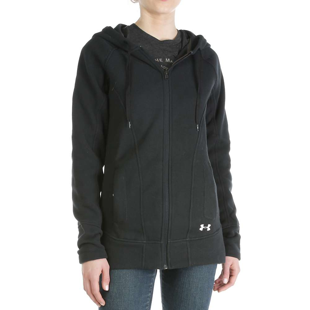 Under Armour Women's Wintersweet FZ Hoody - Large - Black / Glacier Grey