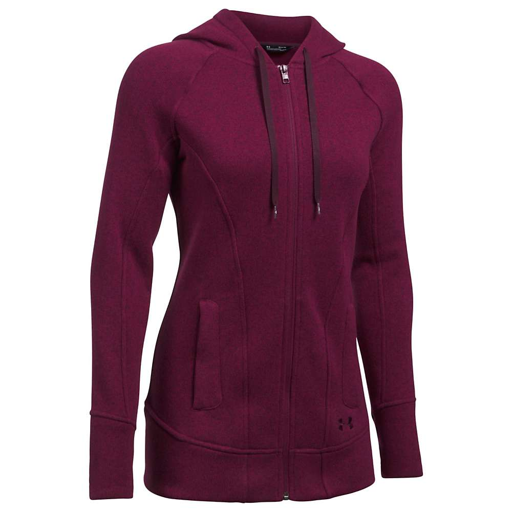 Under Armour Women's Wintersweet FZ Hoody - Large - Black Currant / Raisin Red