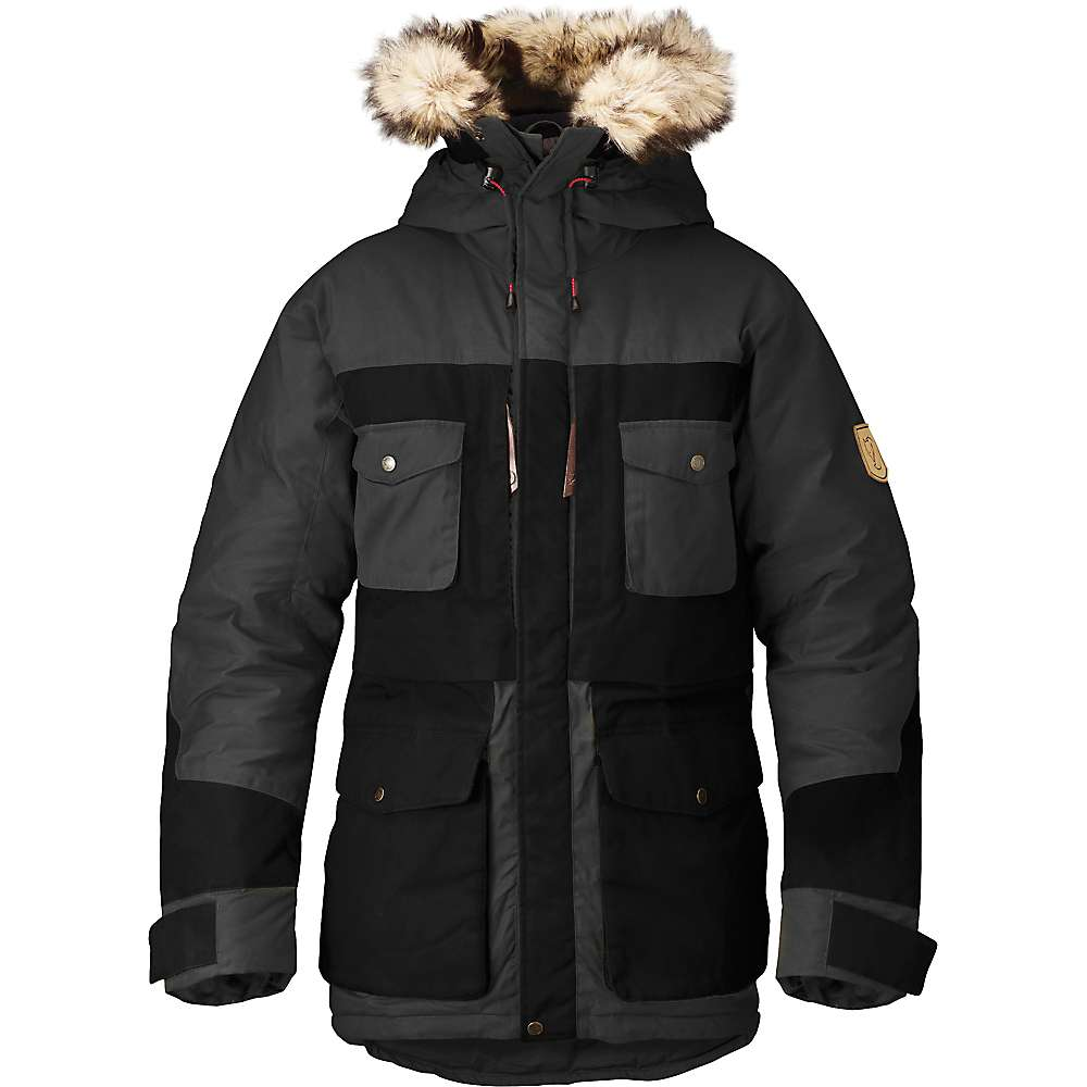 Fjallraven Men's Arktis Parka - Small - Dark Grey / Black