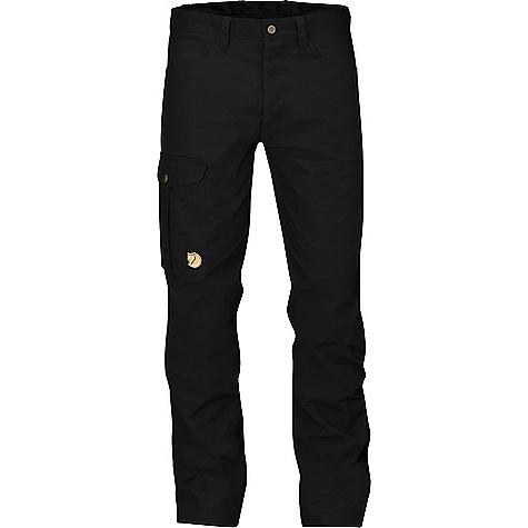 Fjallraven Men's Greenland Jeans Black Fjallraven Men's Greenland Jeans - Black - in stock now. FEATURES of the Fjallraven Men's Greenland Jeans Durable 5-pocket trousers in G-1000 HeavyDuty Leg pocket with internal phone pocket Leather details