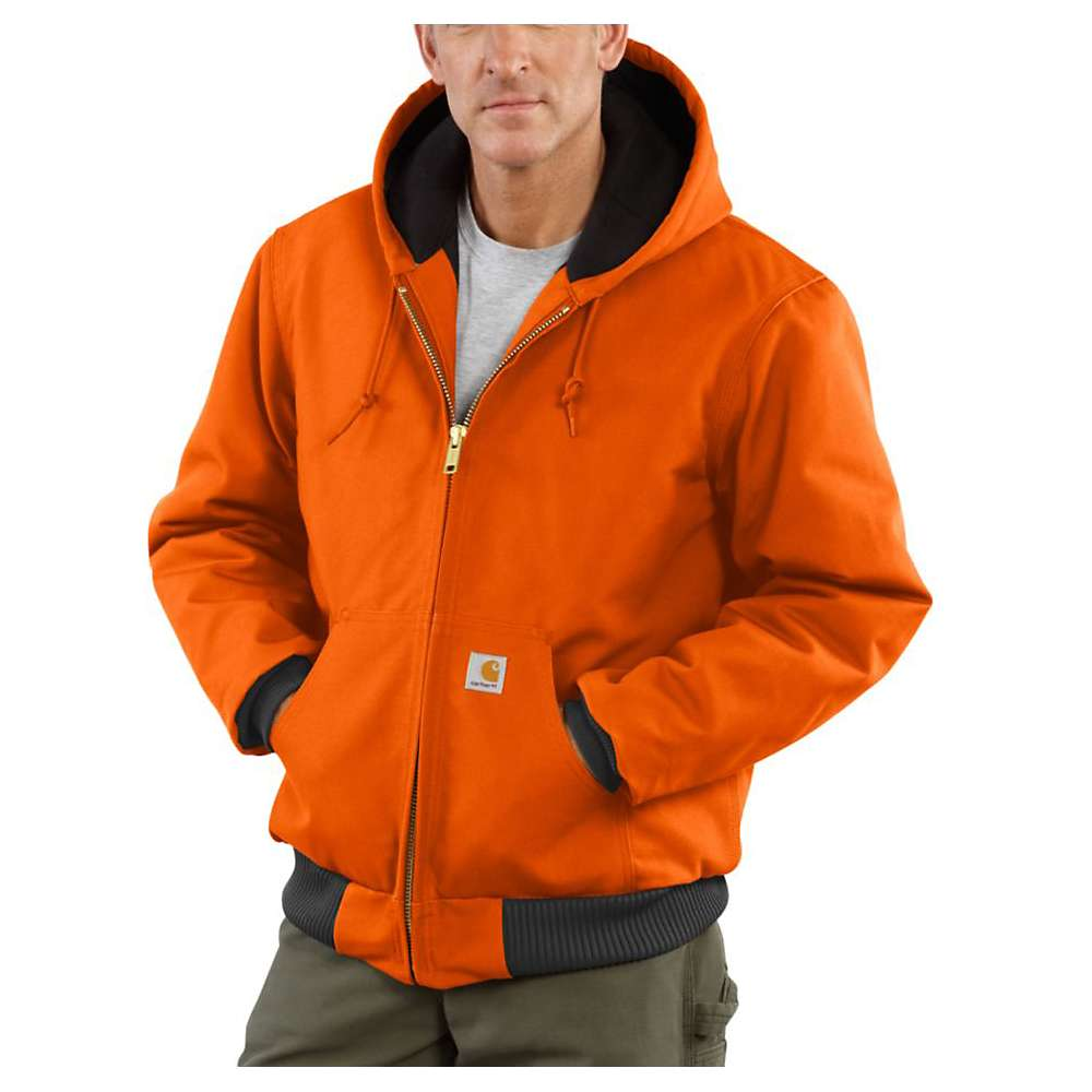 Carhartt Men's Quilted Flannel Lined Duck Active Jacket - XXL Tall - Blaze Orange thumbnail
