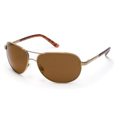 Suncloud Aviator Polarized Sunglasses - One Size - Gold / Brown Polarized