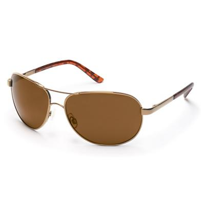 Suncloud Aviator Polarized Sunglasses - Gold / Brown Polarized